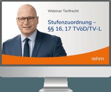 Webinar Tarifrecht: Stufenzuordnung - §§ 16, 17 TVöD/TV-L